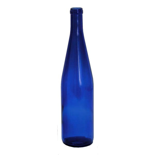 750ml Cobalt Blue California Hock Bottle