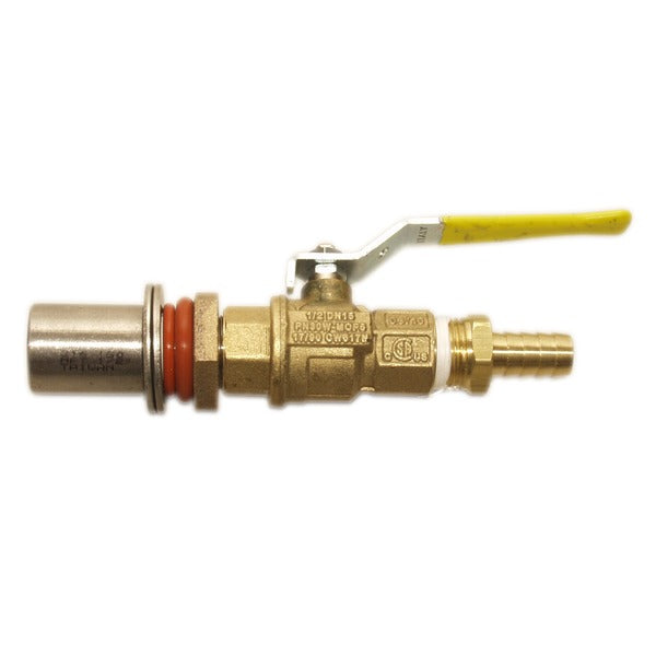 Brass Cooler Valve Kit with a half-inch Barb