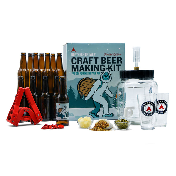 Premium Holiday Gift Set - Frosty Footprints Beer Making Starter Kit