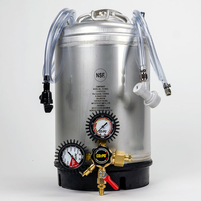 3-Gallon Cornelius Keg System and regulator