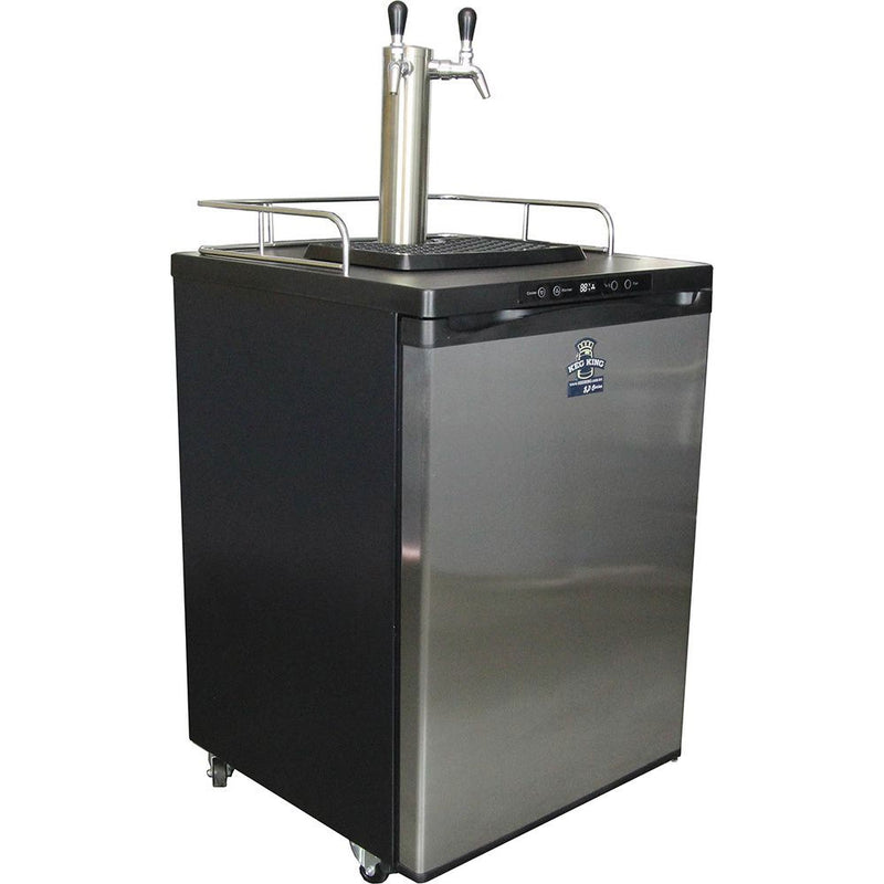 Keg King Keg Master Series 4 Kegerator SS Double Tap Side