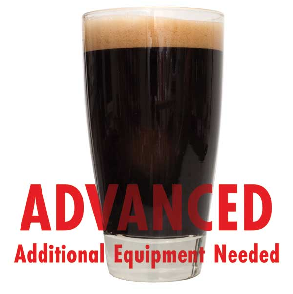 "Ace of Spades Black IPA All-Grain Beer Recipe Kit with a customer caution in red text: ""Advanced, additional equipment needed"" to brew this recipe kit"