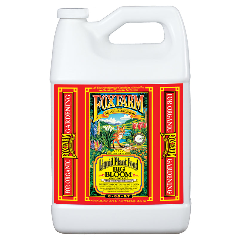 1-gallon jug of FoxFarm big bloom
