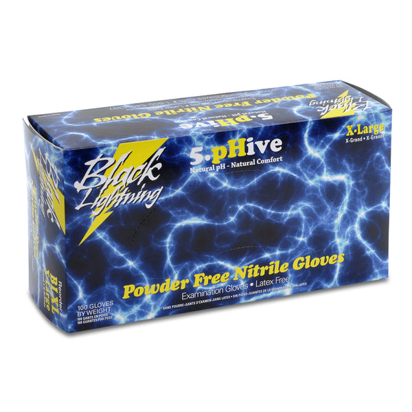 Black Nitrile Gloves Powder Free - XLarge