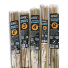 2, 3, 4, 6, and 8 foot bags of natural bamboo support stakes