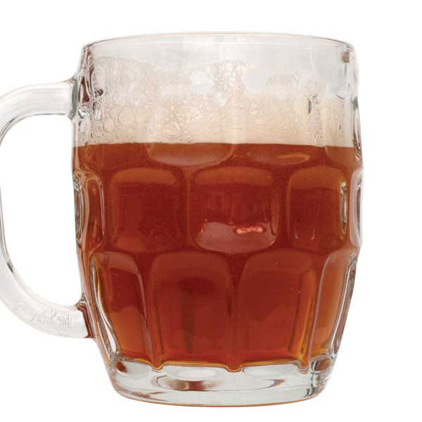 Oktoberfest homebrew in a glass