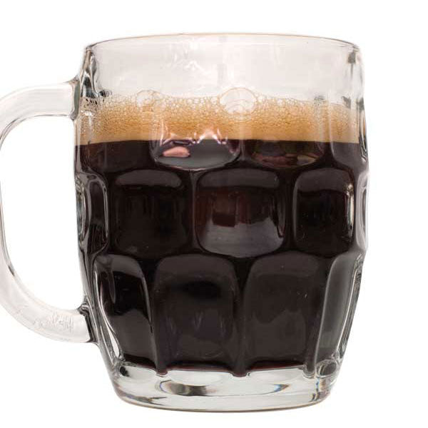 Dark Cherry Stout homebrew in a glass