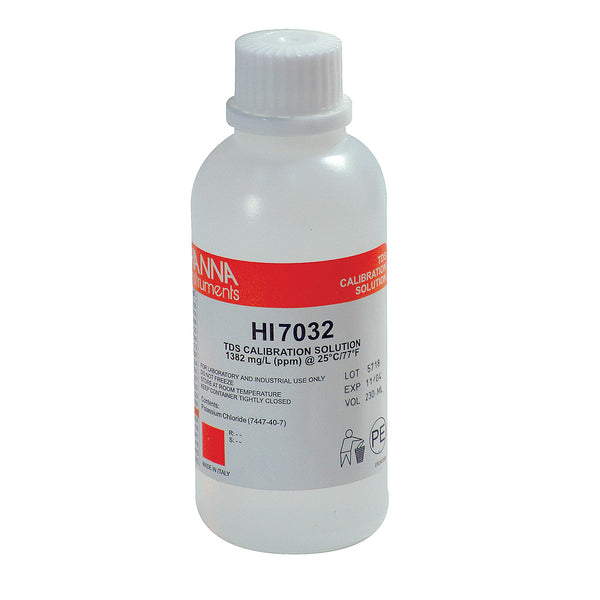 1382 ppm HANNA TDS Calibration Solution in its 230-ml container