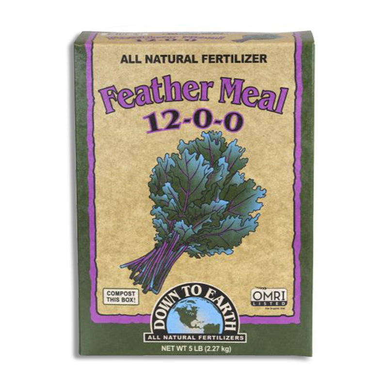 5-pound box of Down to Earth feather meal