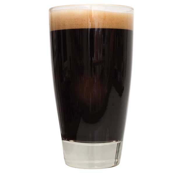 A glass filled with Ace of Spades Black IPA
