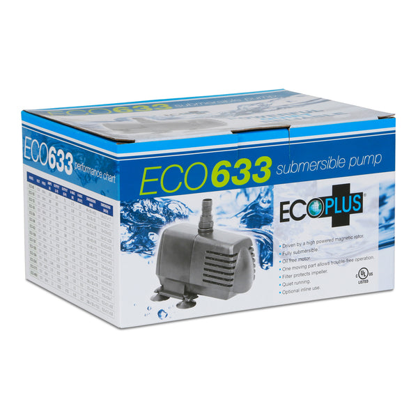 EcoPlus Eco 633 - Fixed Flow Submersible/Inline Pump 594 GPH