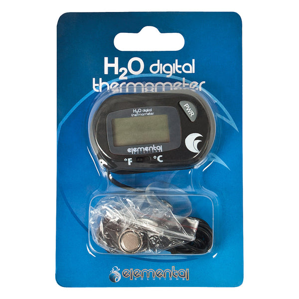 Elemental Solutions H2O Digital Reservoir Thermometer in its packaging