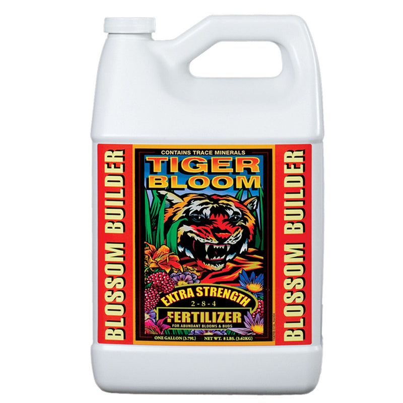1-gallon jug of FoxFarm Tiger Bloom Liquid Plant Food