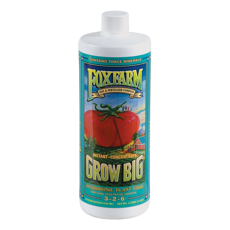 1-quart container of FoxFarm Grow Big for Hydroponic