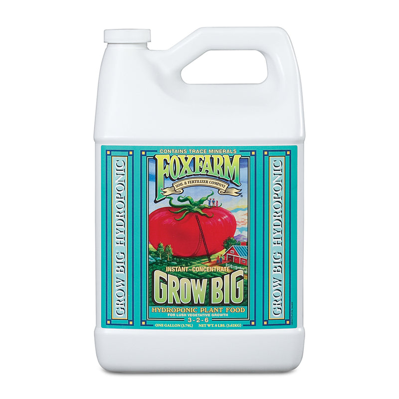 1-gallon container of FoxFarm Grow Big Hydroponic