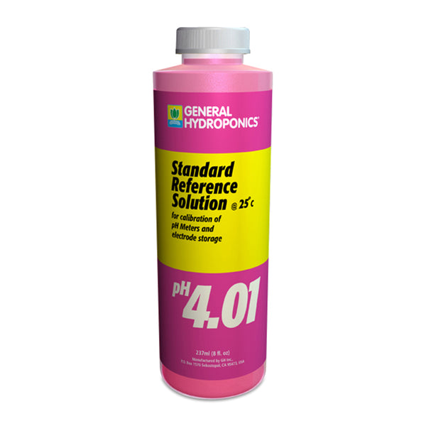 8-ounce container of GH pH 4.01 calibration solution