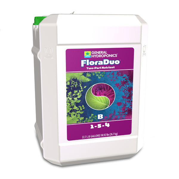 6-gallon container of GH Flora Duo B