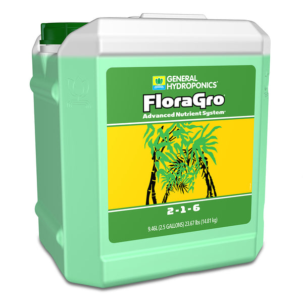 2.5-gallon jug of GH Flora Gro