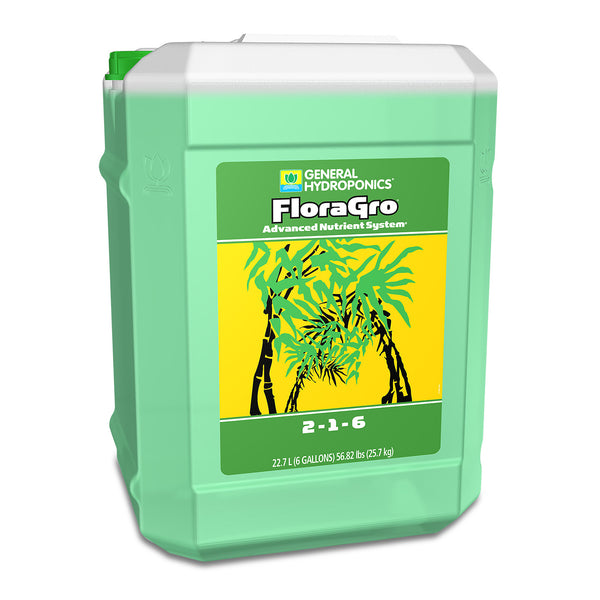 6-gallon container of GH Flora Gro