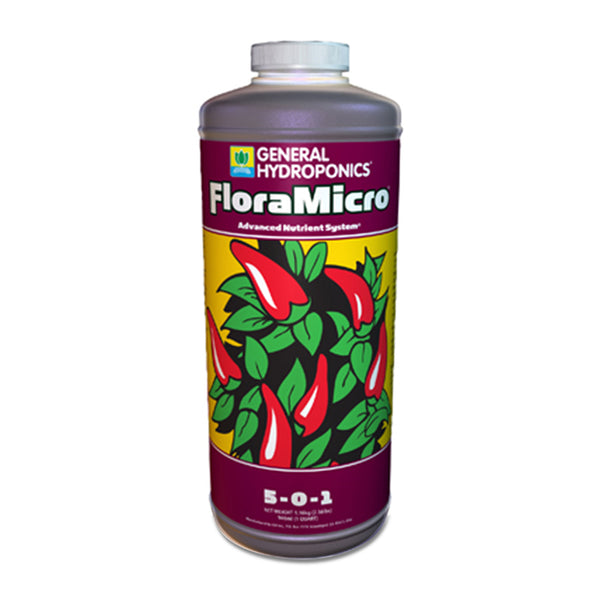 1-quart container of GH Flora Micro