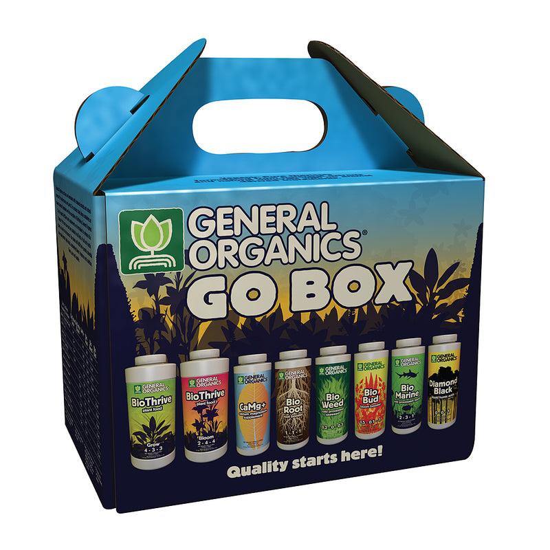 The GH General Organics GO nutrient starter box