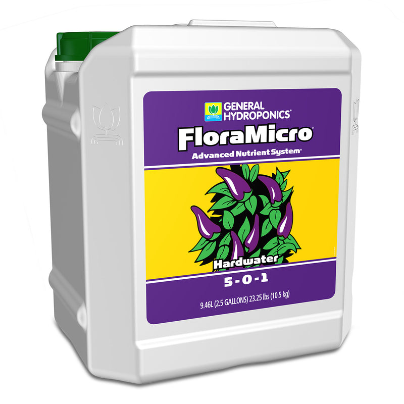 2.5-gallon container of GH hardwater flora micro
