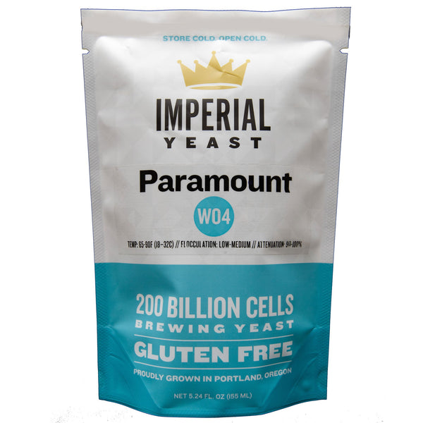 Front of Imperial Yeast W04 Paramount Package