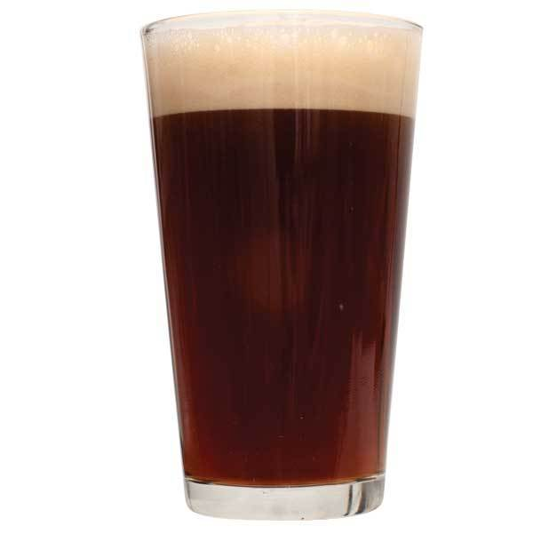 Simply Beer Brown Ale in a glass