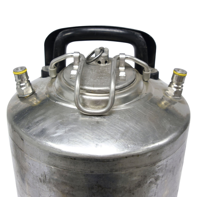 Reconditioned Ball Lock Keg - Detailed top View
