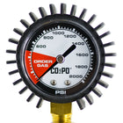 Close-up of a CO2PO® Double Body Regulator gauge