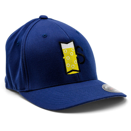 Side-view of the Midwest Supplies Beer Logo Flexfit Baseball Cap