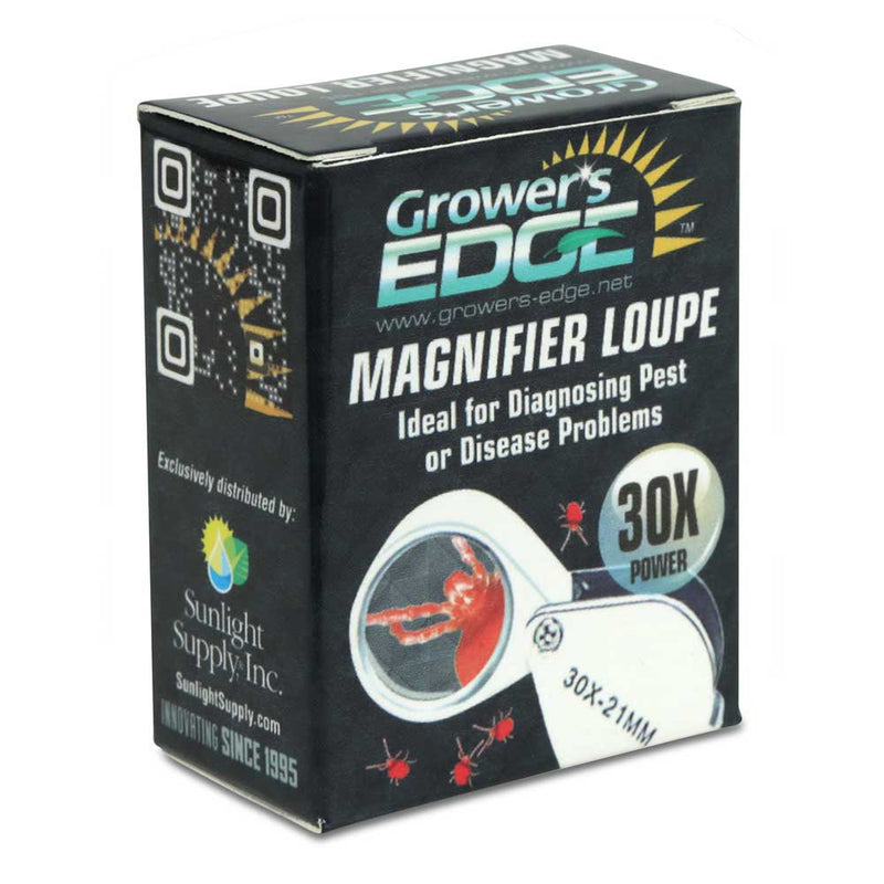 The packaging for the magnifying loupe