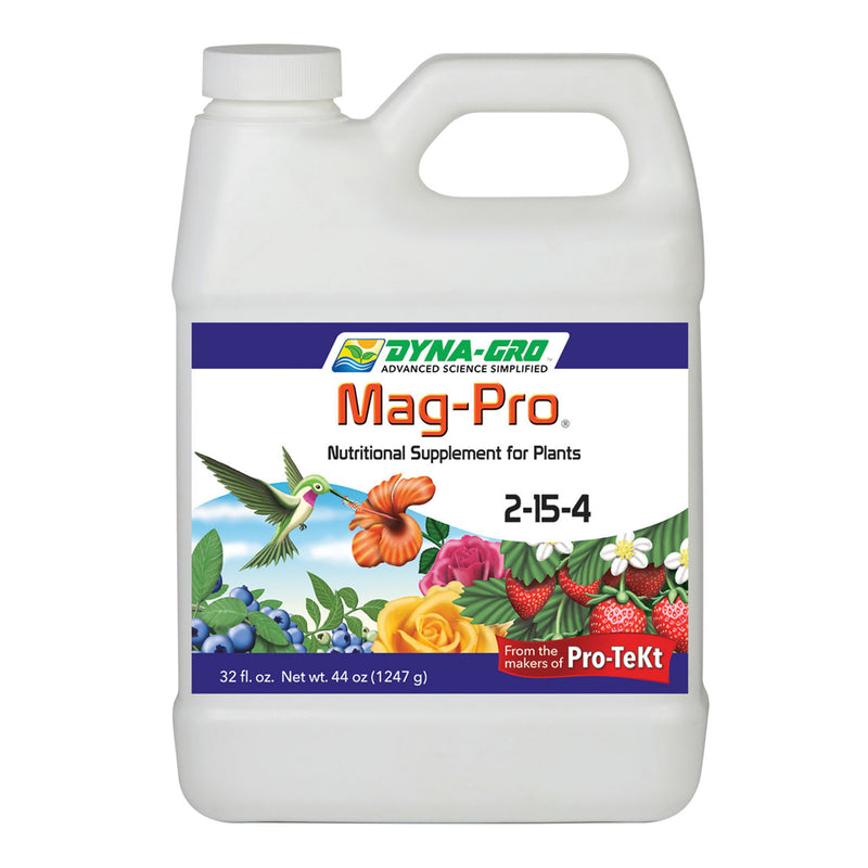Quart container of dyna-gro mag-pro