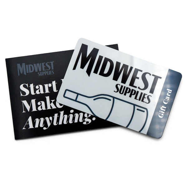 Midwest Supplies Gift Card and envelope