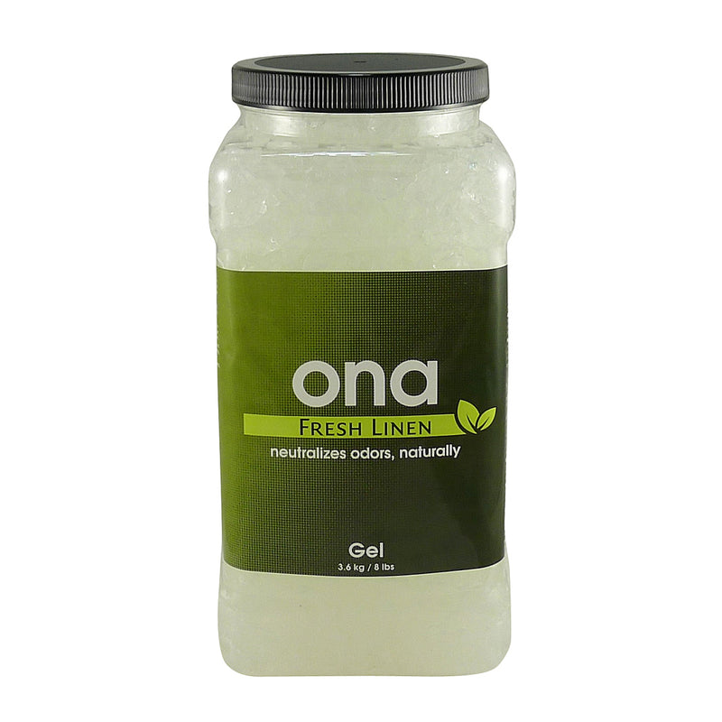 4-liter jar of ONA Odor Control Gel - Fresh Linen scent