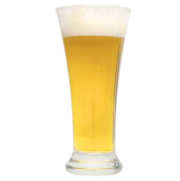 Witbier in a drinking glass
