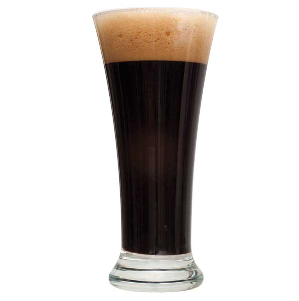 Tall glass of Black IPA Beer homebrew