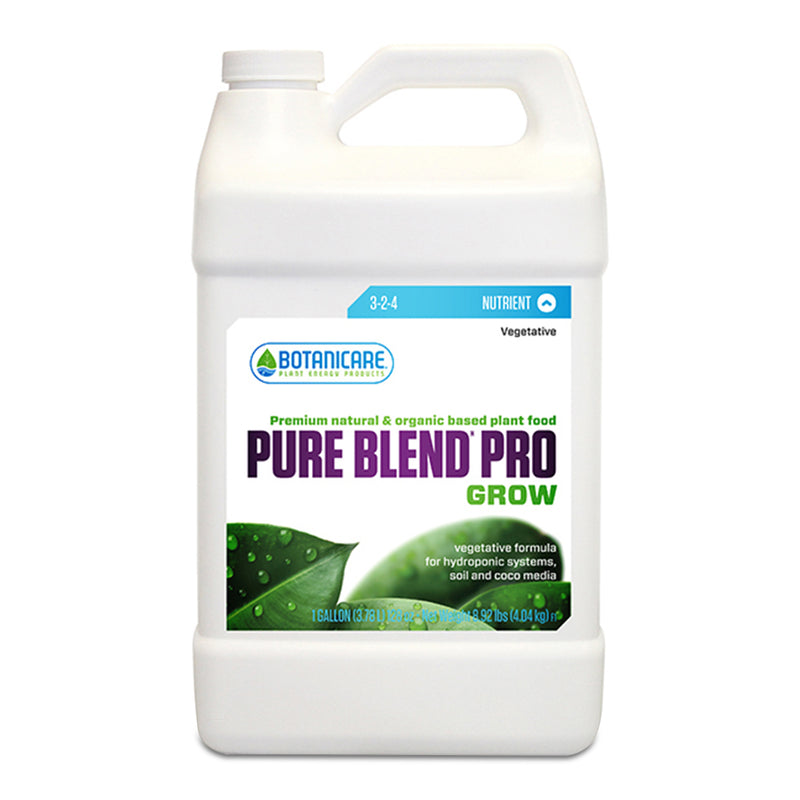 1-gallon container of Botanicare pure blend pro grow