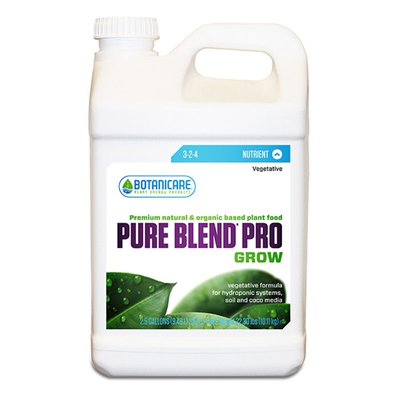 2.5-gallon container of Botanicare pure blend pro grow
