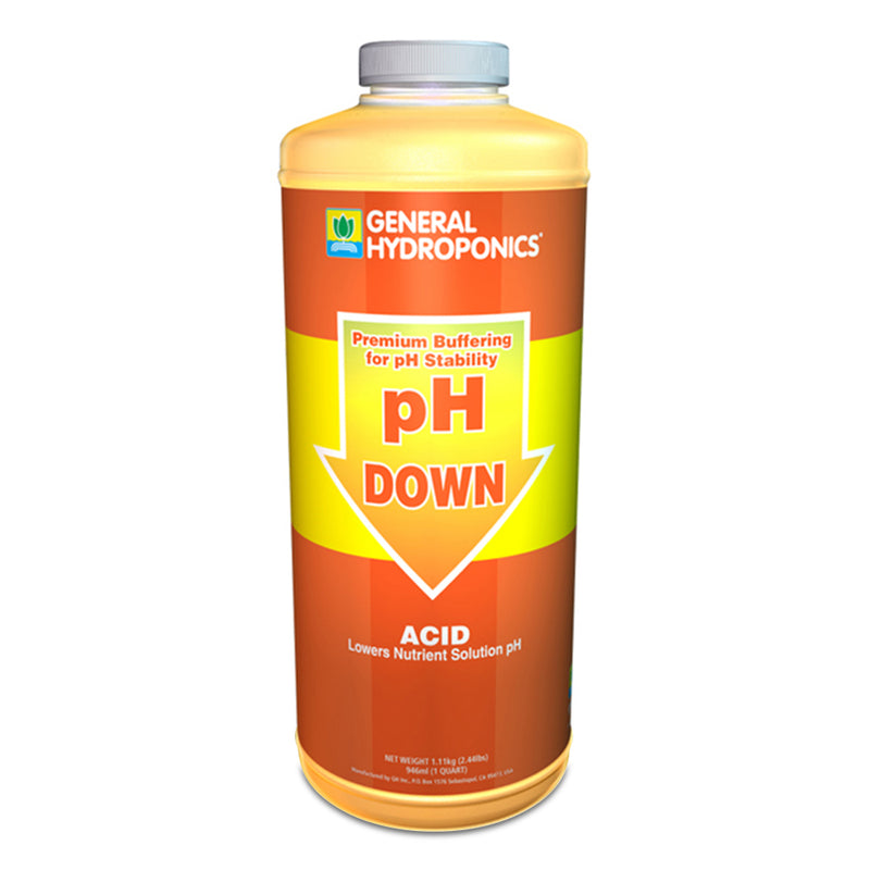GH pH down liquid in a quart container