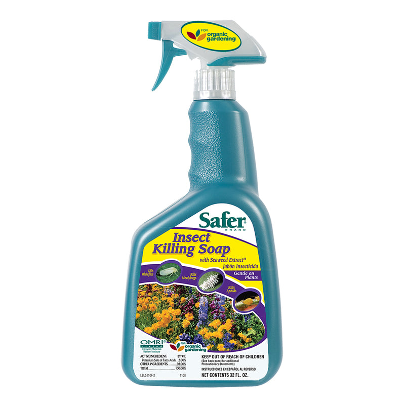 32-ounce Safer Insect Soap RTU spray bottle