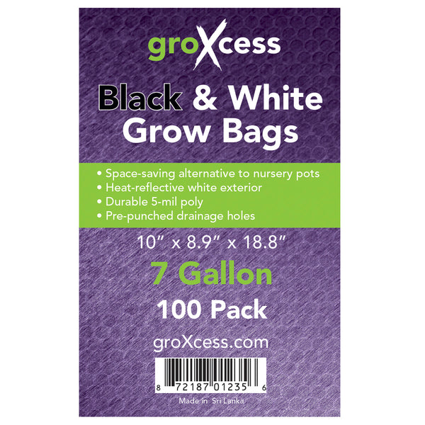 Label for the 7-gallon Black and white grow bags