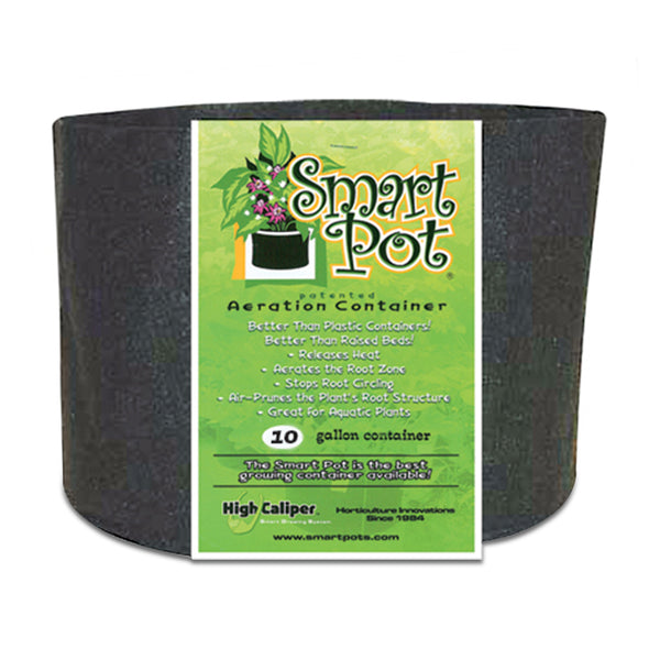 Smart Pot Black Growing Container 10 Gallon