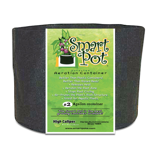 Smart Pot Black Growing Container 2 Gallon