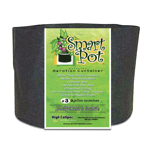Smart Pot Black Growing Container 3 Gallon