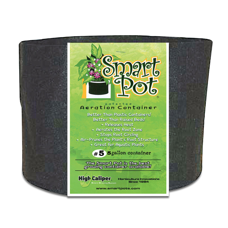 5-gallon Smart Pot Black Growing Container