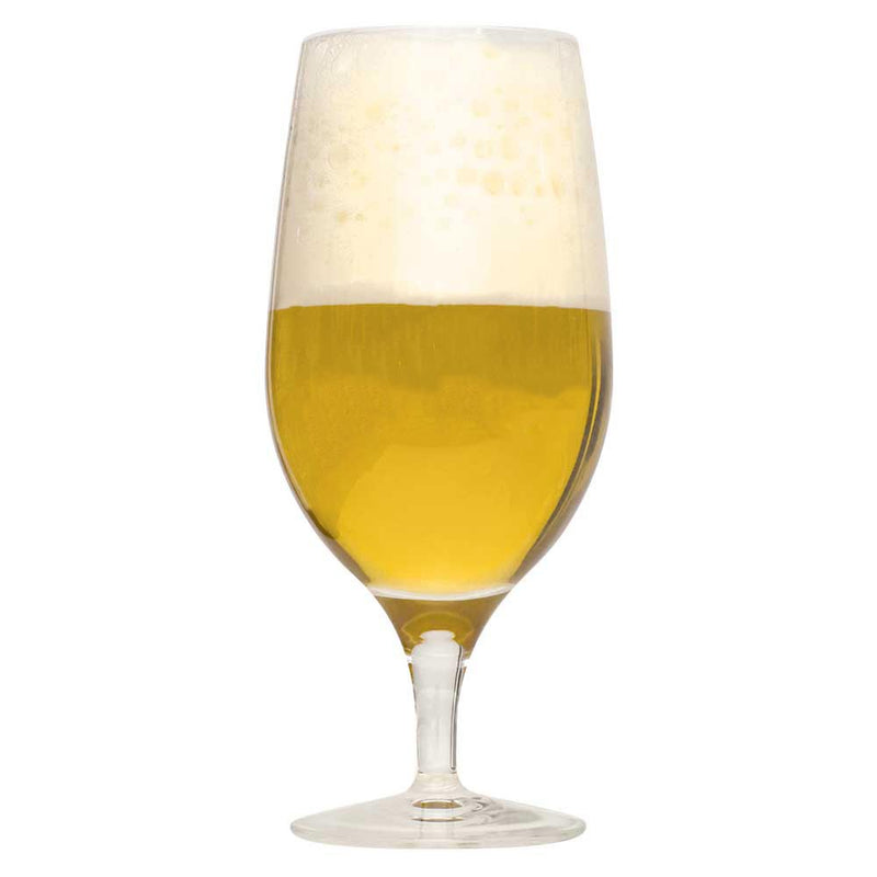 Belgian Strong Golden Ale homebrew in a glass