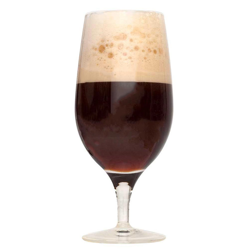 The Mutt's Nuts Brown Porter in a drinking glass
