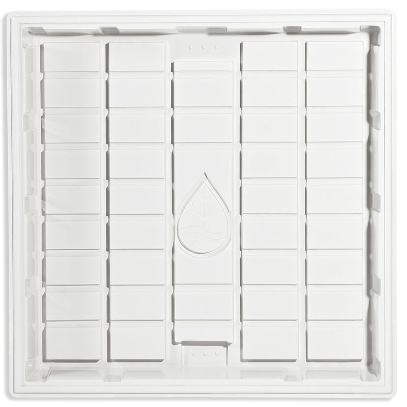 White Hydroponic Grow Tray 3' x 3' x 7""