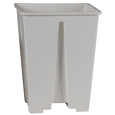 "White Square Plastic Pots 6"" x 6""-10 count"